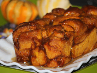 Pumpkin Maple Pull-apart Bread With Whiskey Sauce Recipe