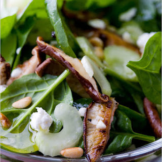 Spinach Salad with Seared Shiitake Mushrooms