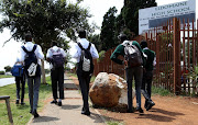A group of Eldomaine High School pupils were kicked out of classes for wearing skinny pants and told to come back to school with their parents