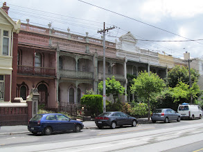 """Photo: """"Melbourne Style"""" of late Victorian terraced houses"""