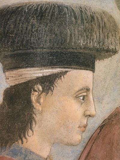Piero della Francesca,Esaltazione della croce (particolare)