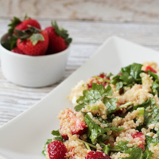 Quinoa Salad with Strawberries, Feta and Baby Kale