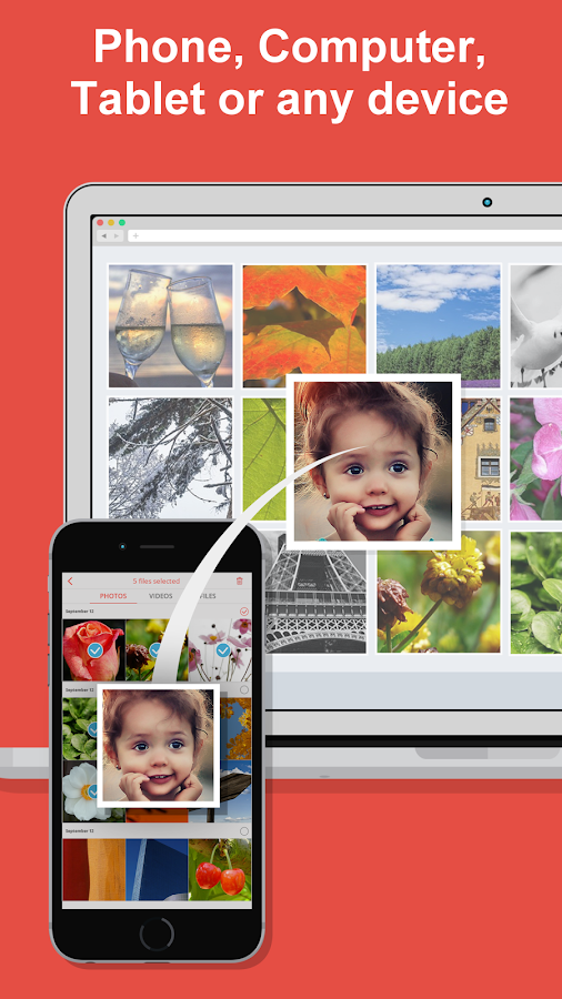 FotoSwipe: File Transfer, Contacts, Photos, Videos- screenshot