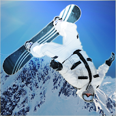 Steep mountain surfers alpine