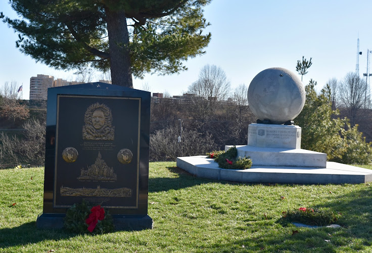 Markers commemorating Admiral Peary's Arctic explorations