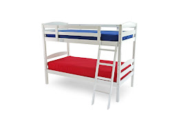Solid Wooden Bunk Bed in White Finish