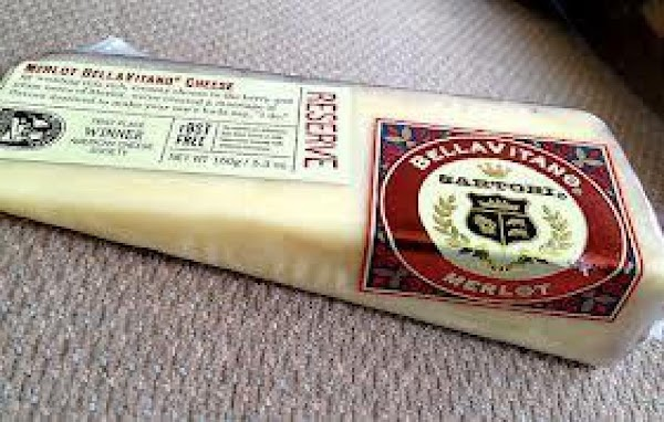 Note: * Any cheese infused with wine that is similar will work fine.  This Wisconsin cheese...