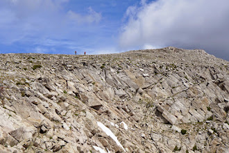 Photo: Starting down from the summit - onto Mt. Jefferson