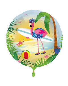 Folieballong, flamingo