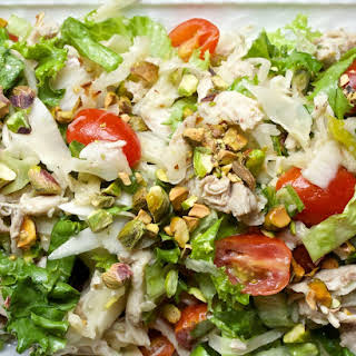 Fennel, Cherry Tomato & Chicken Salad with Toasted Pistachios.