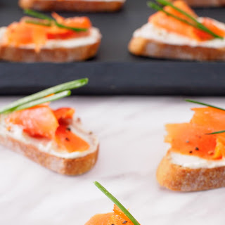 Smoked Salmon and Boursin Crostini.