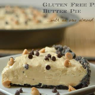 Gluten Free Peanut Butter Pie with Oreo Almond Crust.