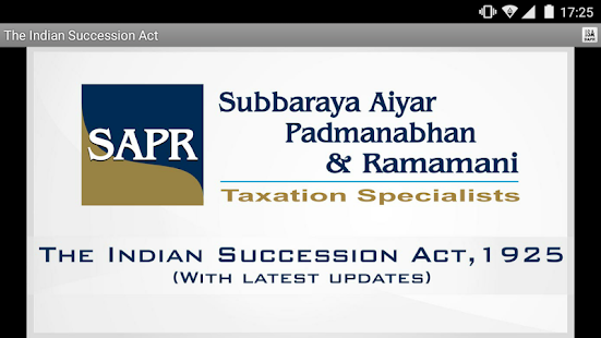 The Indian Succession Act- screenshot thumbnail