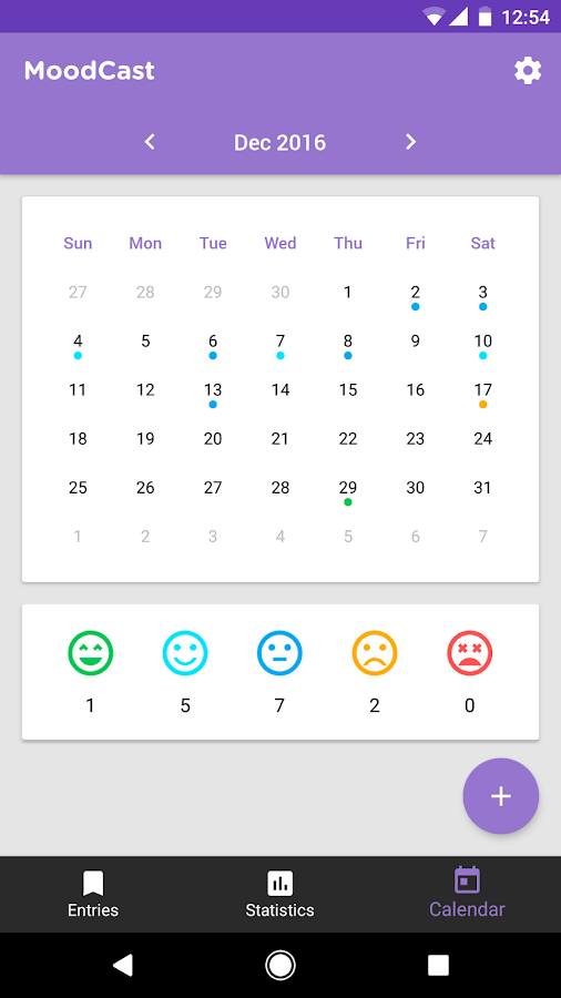 Diary - Mood Tracker- screenshot