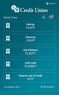 UW Credit Union- screenshot thumbnail