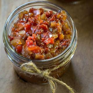 Easy Fresh Balsamic Tomato Chutney.