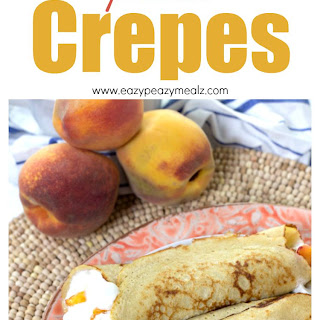 Peaches 'n Cream Protein Crepes