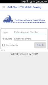 Gulf Shore FCU Mobile Banking screenshot 0