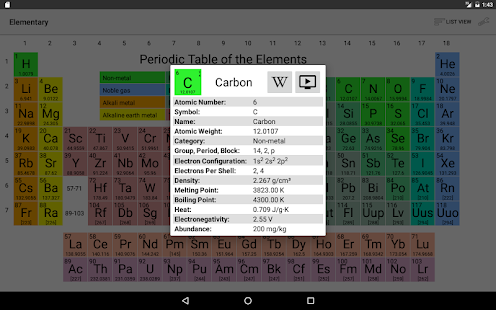 Elementary (Periodic Table)- screenshot thumbnail