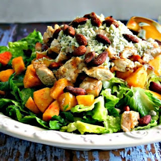 Chopped Chicken Salad with Fresh Peaches.