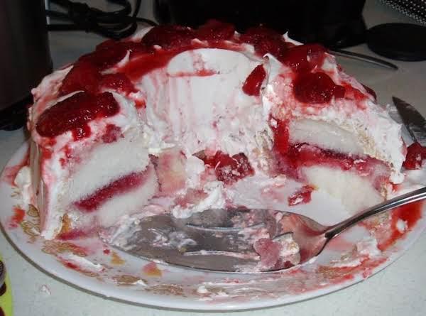 Strawberry  Angle Food Cake