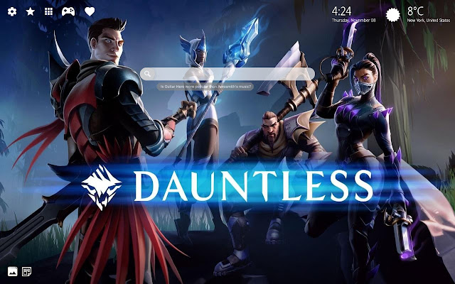Dauntless Game HD Wallpapers Collection Theme
