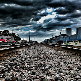 Tracks by Travis Weis - Transportation Railway Tracks ( train tracks, minnesota, america, perham, tracks )