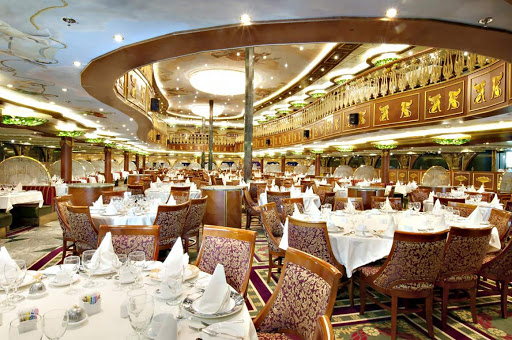 Carnival Spirit's grand Empire Restaurant evokes the elegance of eras past.