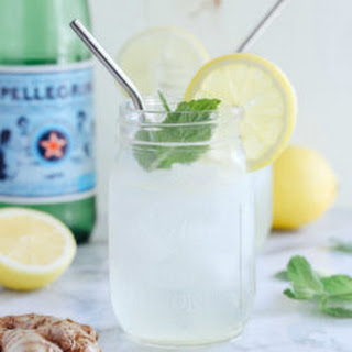 Lemon Ginger Spritzers with Fresh Mint.