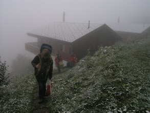 Photo: Snow leaving the chalets