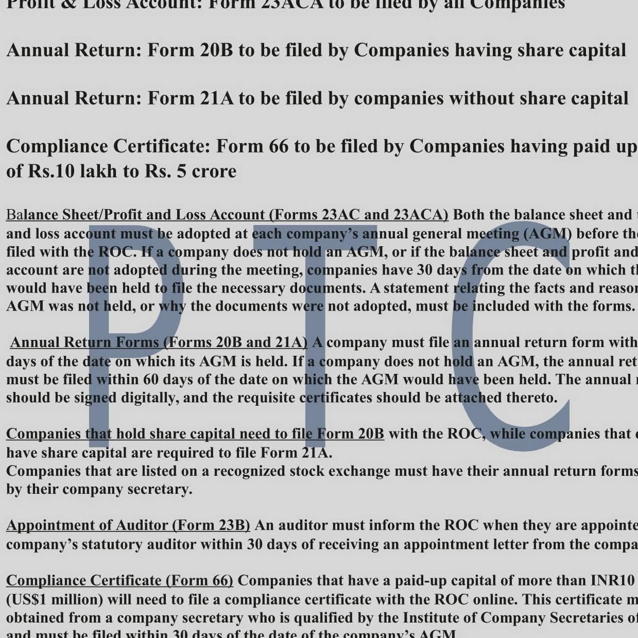 Pavan Tax Consultancy Ptc