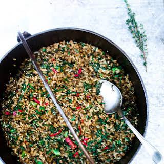 Wild Rice, Za'atar, Lentil & Rocket Stir Fry.