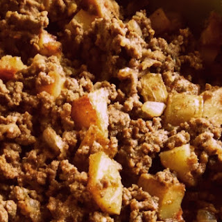 Mom's Beef Picadillo With Potatoes.