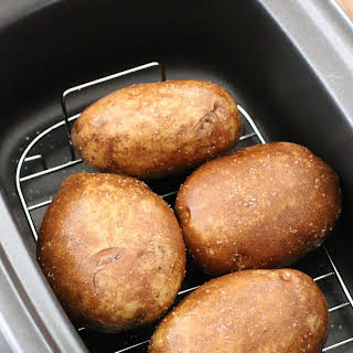 Crock Pot Baked Potatoes with Thanksgiving Leftovers.