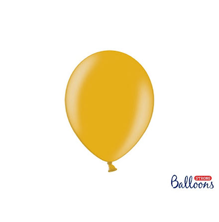 Ballonger 27 cm - Guld metallic