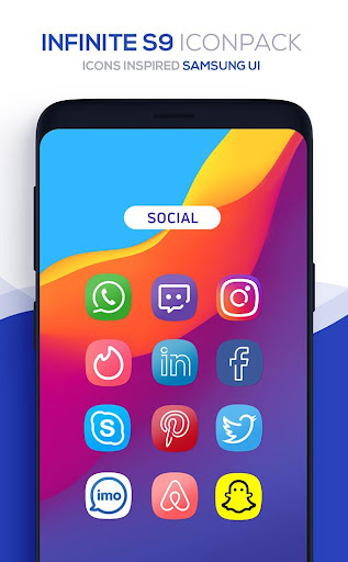 Screenshot for Infinite S9 Icon Pack in Hong Kong Play Store