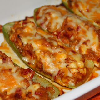 Zucchini Stuffed with Shrimp