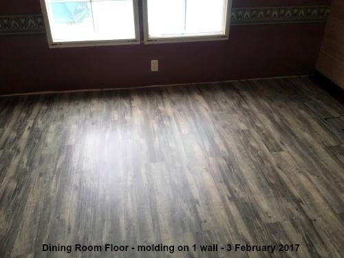 DR floor short of trim/molding @ lp painted ponys