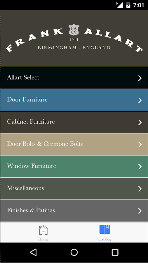 Frank Allart Catalogue App- screenshot