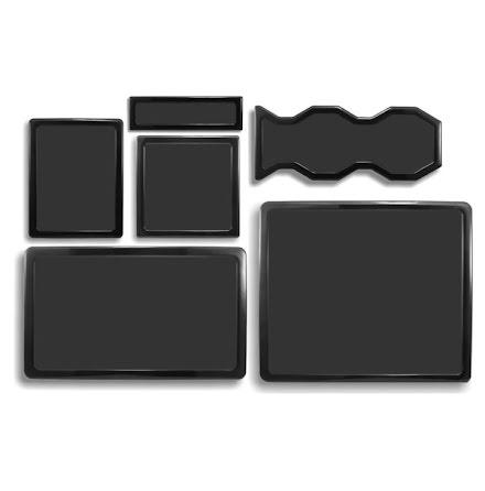 DEMCiflex magnetisk filtersett for Cooler Master HAF 932, sort