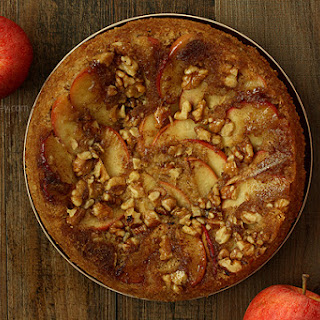 Apple Walnut Upside Down Spice Cake