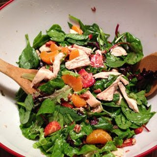 Strawberry Spinach Salad With Feta and Bacon.