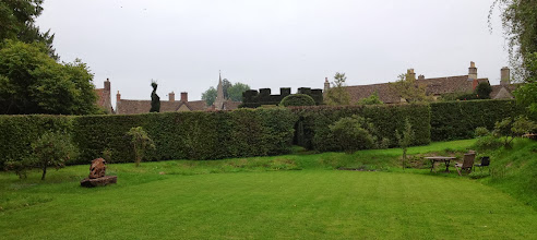Photo: Topiary and Lacock rooftops