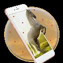 majestic horse gallop mare icon