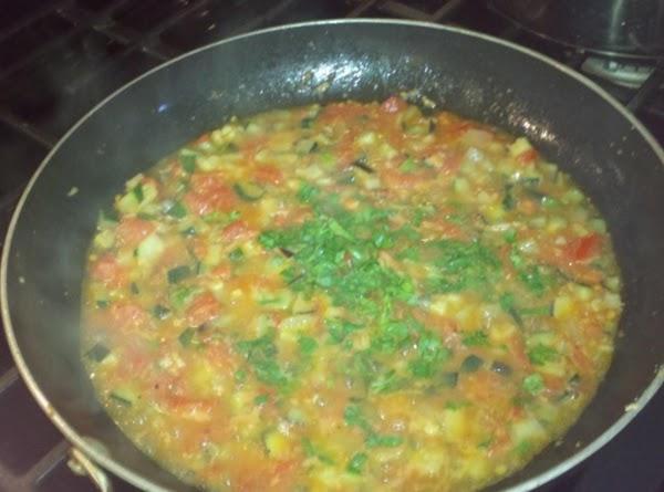 Add the diced fresh parsley.