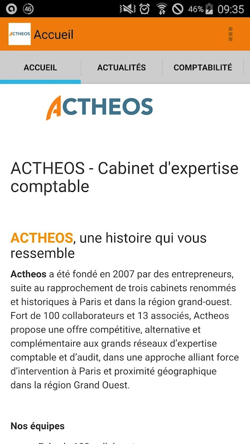 actheos - cabinet comptable - android apps on google play