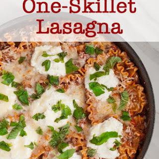 One Pan Skillet Lasagna