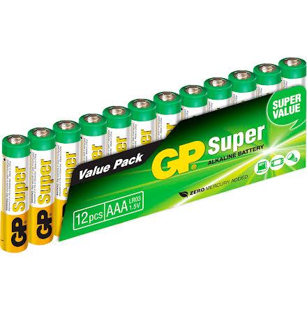 Batteri GP Super AAA/LR03 12fp