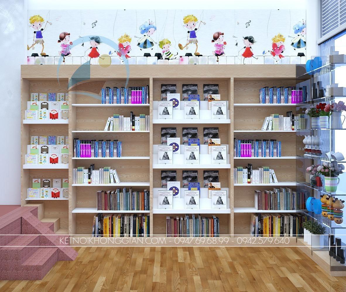 thiết kế nội thất nhà sách Dâu Tây 6
