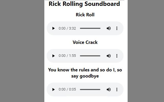Rick Rolling Soundboard
